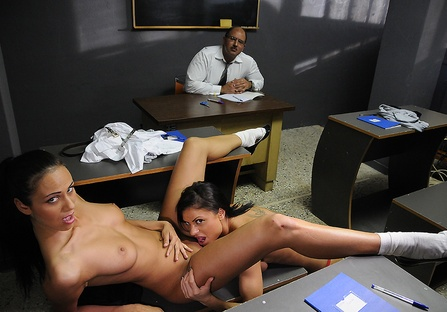 Orgies at college in front of the professor
