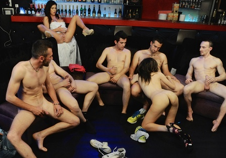My cousin's gangbang in the club